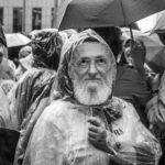 Manifestante como Paulo Freire