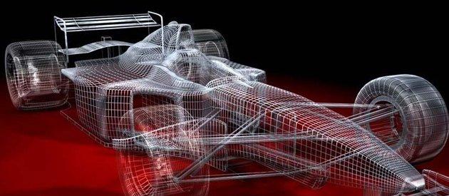 Carro de Fórmula 1 em computação gráfica