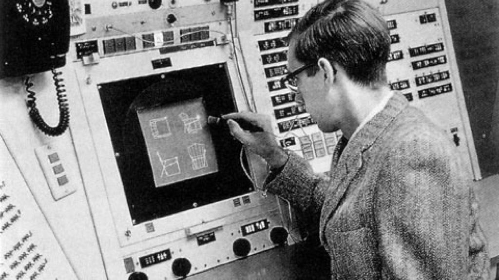 Ivan Sutherland trabalhando no Sketchpad (fonte: BIM A+)