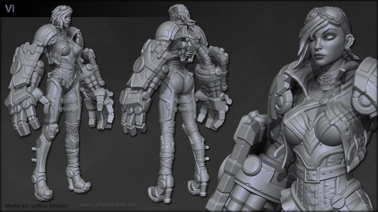 Modelagem 3D de personagem