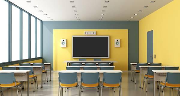 Sala de aula de um curso de multimídia