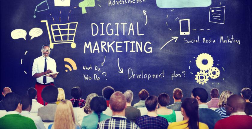 Aula da faculdade de marketing